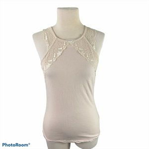 H&M Cream Tank Top with Lace Detailing
